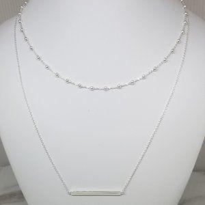 Layering Necklace-Horizontal Bar-Ball Choker